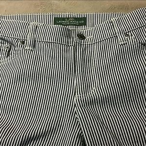 LRL pinstriped stretch jeans size 8